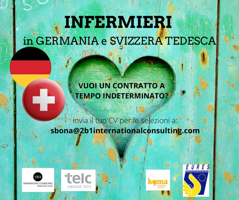CONTRATTO A TEMPO INDETERMINATO per INFERMIERI - GERMANIA e SVIZZERA TEDESCA