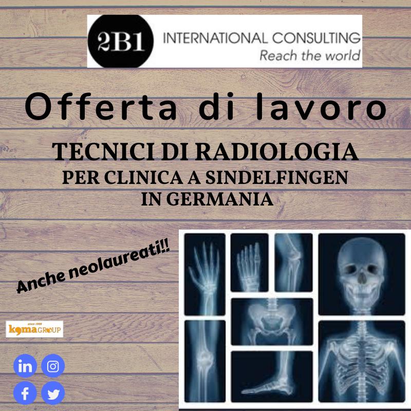Offerta di lavoro per Tecnici di Radiologia