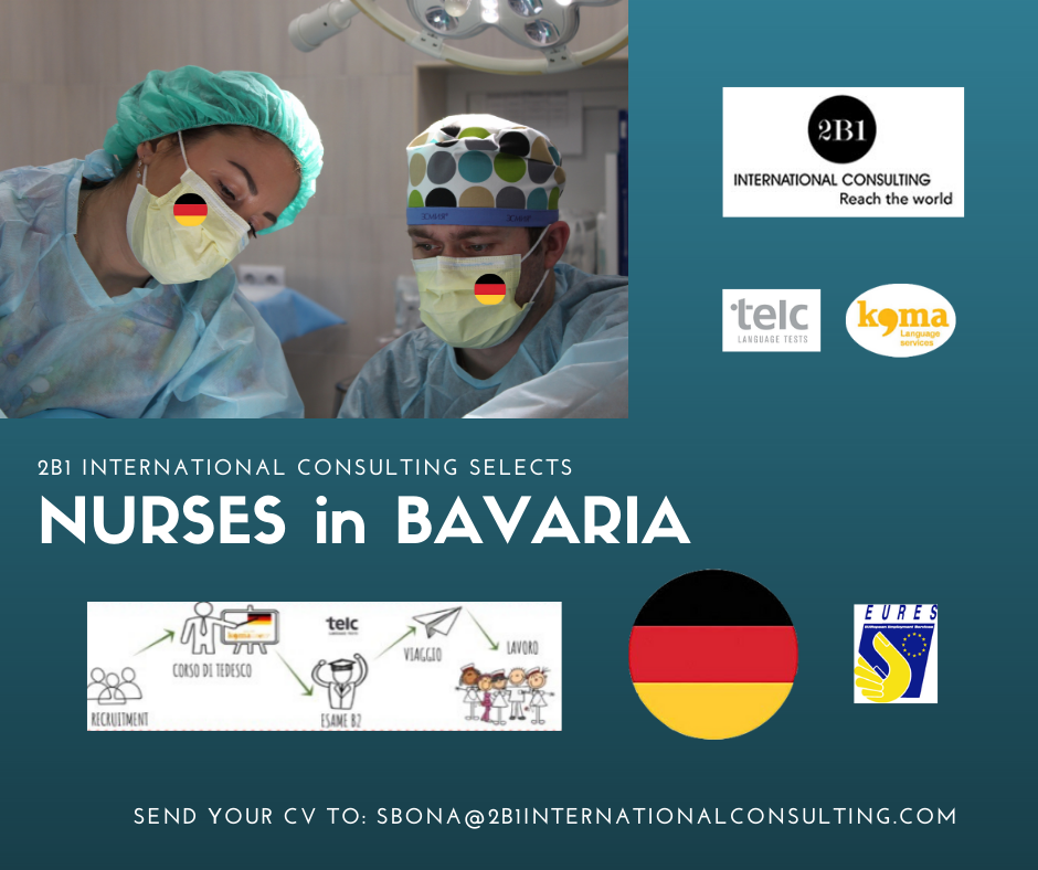 selection of NURSES in BAVARIA, GERMANIA