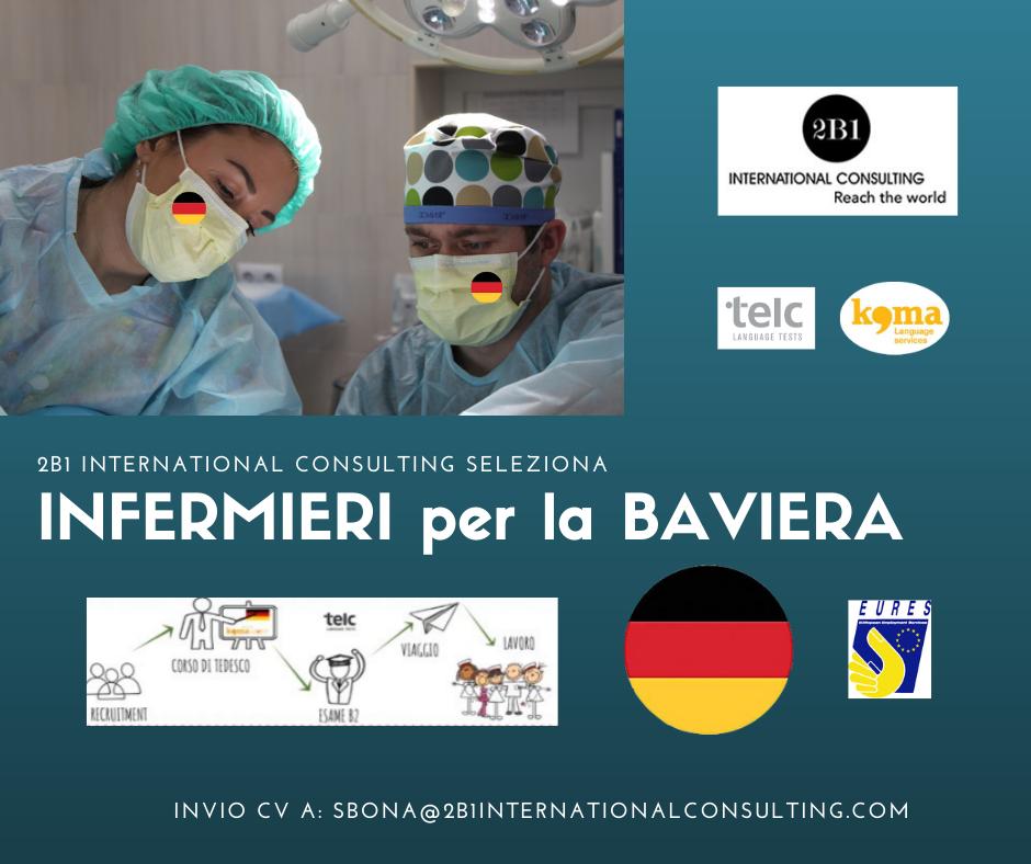 selezioni di INFERMIERI per la BAVIERA, GERMANIA